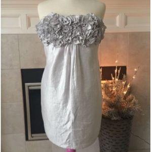 AQUA Beach dresses silver/platinum Tafetta dress s